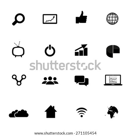 Marketing Icons Set - stock vector