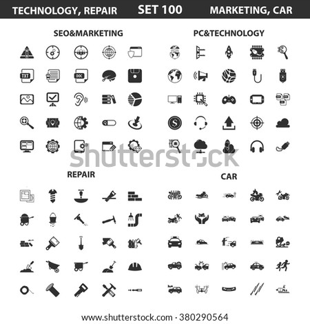Marketing icons set.