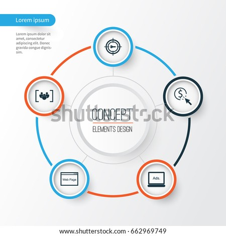 Marketing icons set collection keyword marketing stock vector hd collection of keyword marketing digital media website and other elements ccuart Images