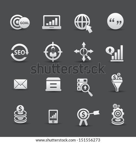 Marketing icons,vector