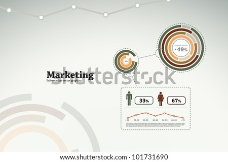 Marketing infographics for business statistics, reports, presentations, etc. - stock vector