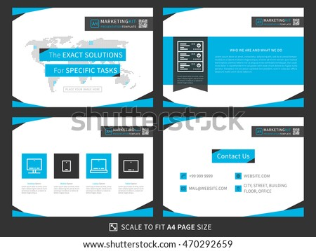 marketing kit presentation vector template modern stock vector royalty free 470292659. Black Bedroom Furniture Sets. Home Design Ideas
