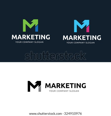 Marketing logo m letter logo vector logo template stock vector marketing logom letter logovector logo template altavistaventures Choice Image