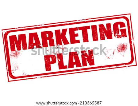 marketing plan grunge stamp with on vector illustration