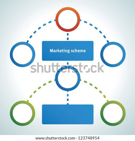 Marketing presentation chart - stock vector