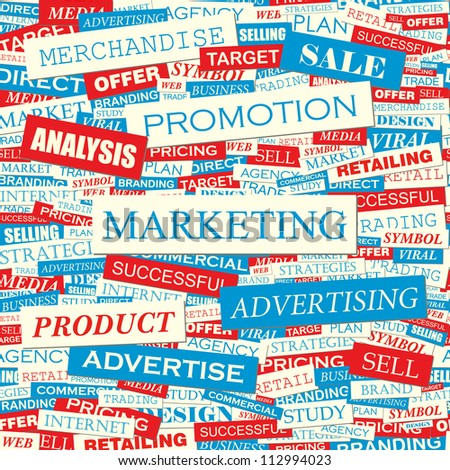 Marketing. Seamless vector background.
