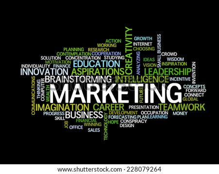 Marketing strategy concept word cloud - stock vector