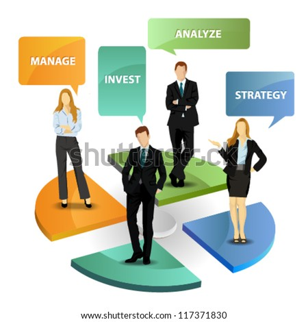 Marketing strategy with business people - stock vector