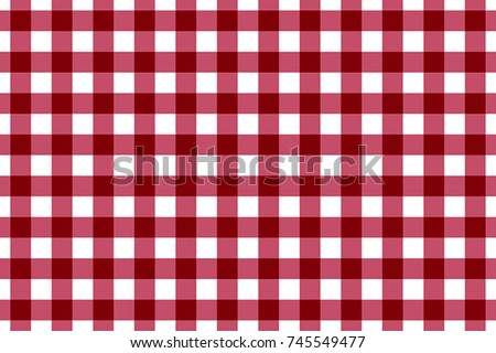 Maroon and White Gingham Tablecloth Seamless Pattern