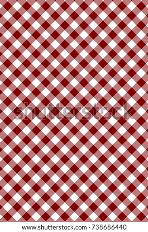 Maroon Gingham pattern. Texture from rhombus/squares for - plaid, tablecloths, clothes, shirts, dresses, paper, bedding, blankets, quilts and other textile products. Vector illustration.