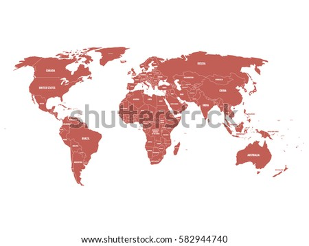 World Map With Country Names Stock Images RoyaltyFree Images - World map and labels