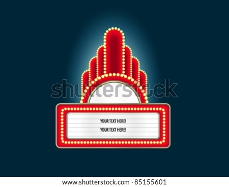 Marquee - stock vector