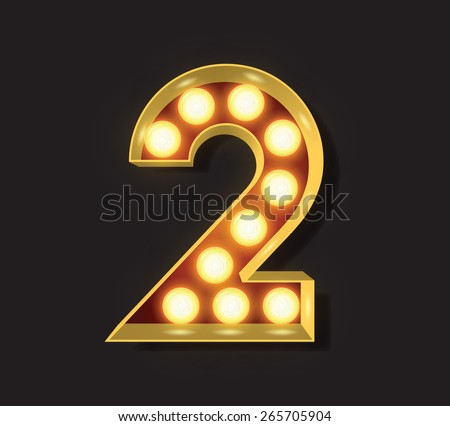 Marquee Light Letter - Vector - 2 - stock vector