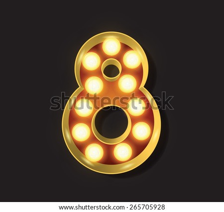 Marquee Light Letter - Vector - 8