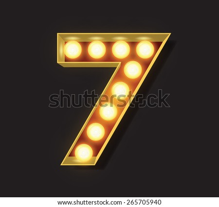 Marquee Light Letter - Vector - 7 - stock vector