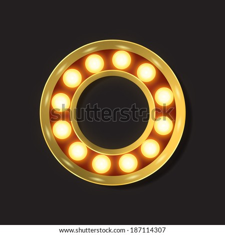 Marquee Light Letter - Vector - O