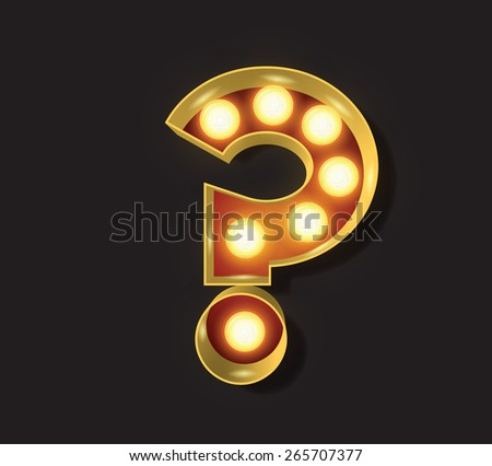Marquee Light Letter - Vector - ? Question Mark