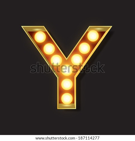 Marquee Light Letter - Vector - Y