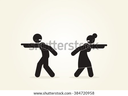 Marriage Family Couple Discussion Decision Disagreement Vector Design - stock vector
