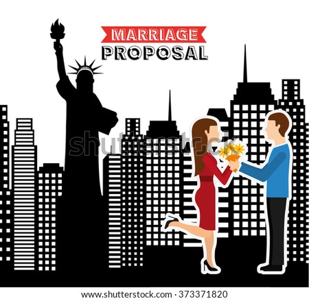 marriage proposal design, vector illustration eps10 graphic  - stock vector