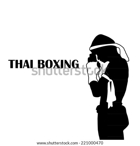 martial arts and muay thai muay thai boran .thai boxing - stock vector