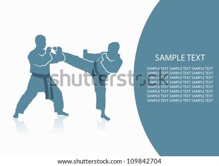 Martial arts background - vector illustration - stock vector