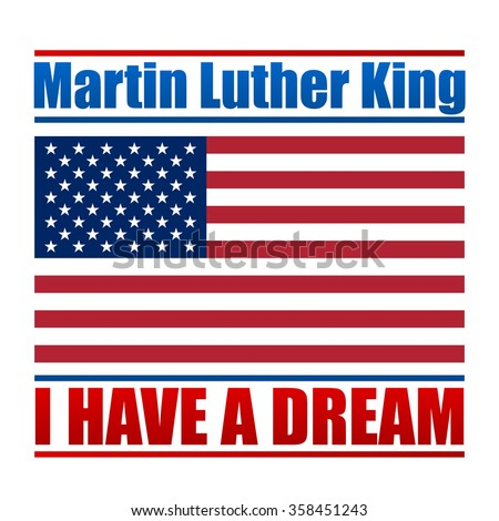 Martin Luther King Day vector design for national holiday. Vector illustration for your artwork.