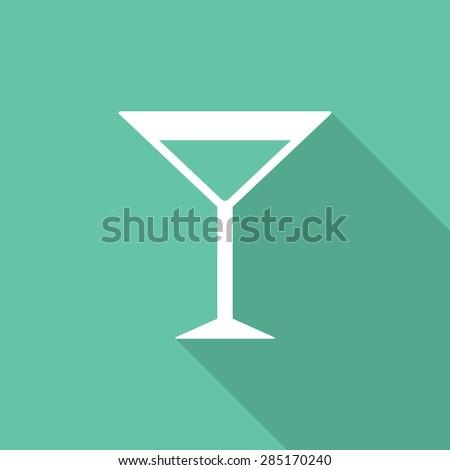 Martini glass icon, modern minimal flat design style. Vector illustration, symbol - stock vector