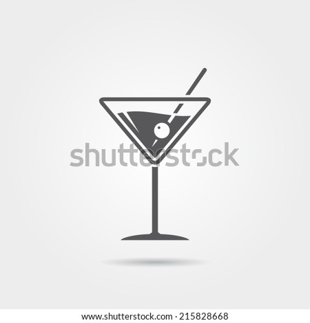 Martini Icon - stock vector