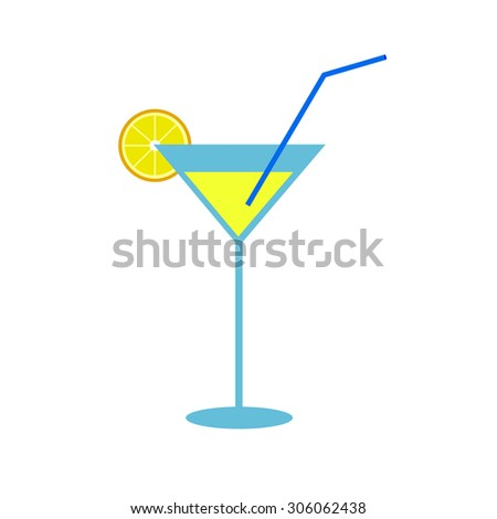 martini vector alcohol glass liquid drink cocktail - stock vector