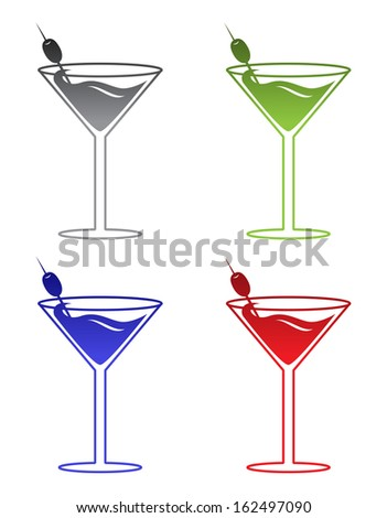 Martinis - stock vector