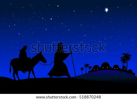 Mary and Joseph Journey to Bethlehem