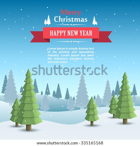 Mary christmas cover art, Happy new year background, Vector illustration - stock vector