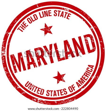 maryland stamp - stock vector