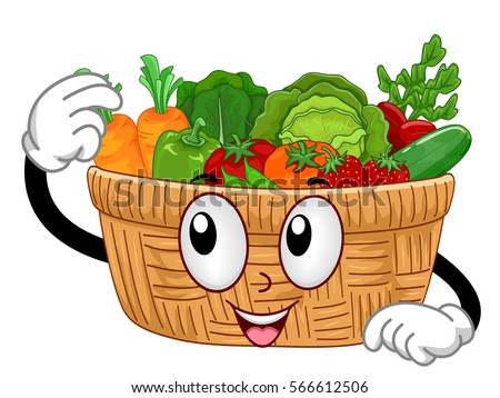 cartoon vegetable basket wwwpixsharkcom images