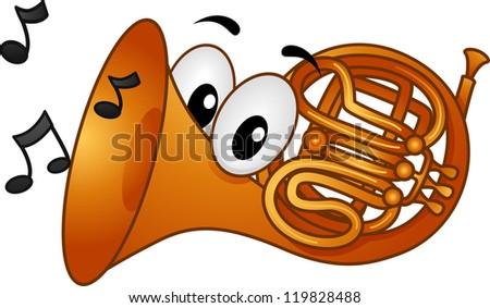 Clipart Man Blowing Horn