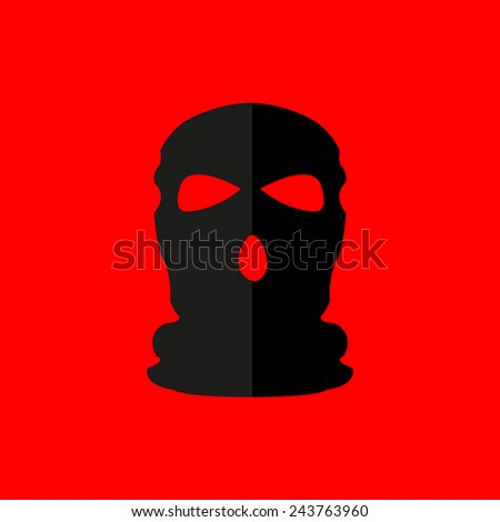 mask military flat design vector sign - stock vector