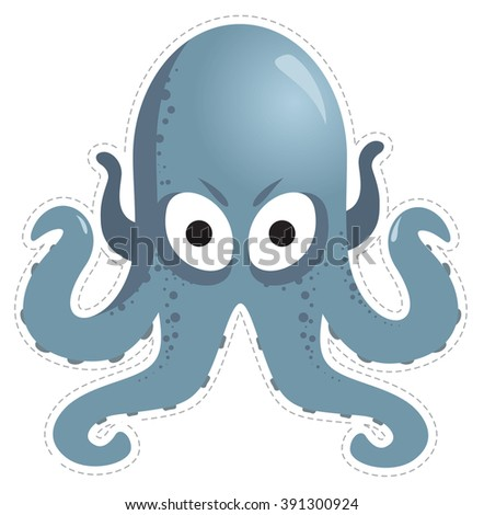 mask octopus for children's masquerade - stock vector