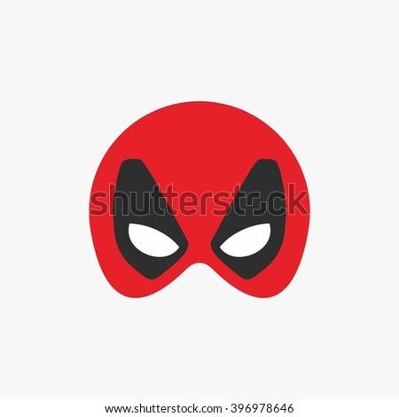 Mask Super Hero Face Character Flat Stock Vector 396978646 ...