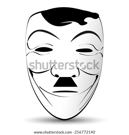 mask with a mustache - stock vector