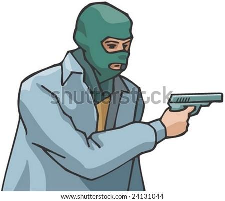 Masked Burglar - stock vector