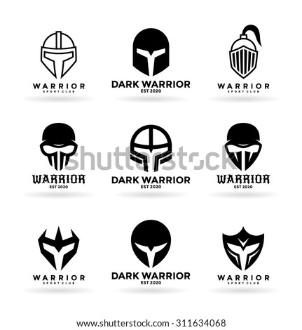 Masks and helmets (1) - stock vector