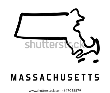 State Map Outline Smooth Simplified Us State Shape Map Vector