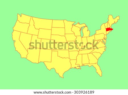 Massachusetts State Usa Vector Map Isolated Stock Vector 303926189