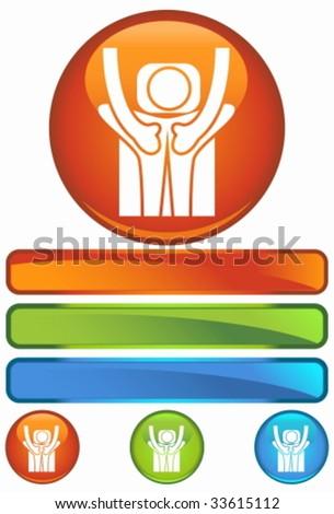 massage orange round - stock vector