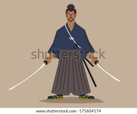 Master fencer  (Miyamoto, Musashi) - stock vector