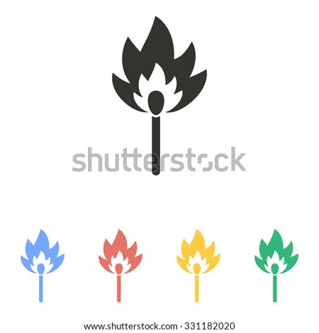 Match  icon  on white background. Vector illustration.
