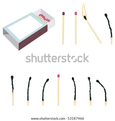 Matches set - stock vector