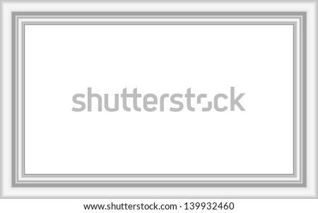 Mate white frame - stock vector