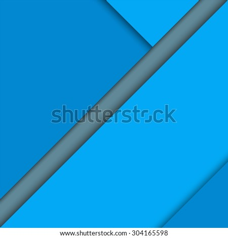 Material design background. Abstract modern blue geometrical background. Vector illustration. Flyer, brochure cover.